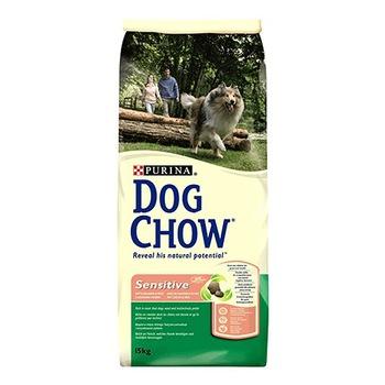 Dog Chow Sensitive сухой корм для собак с чувствительным пищеварением (с лососем и рисом)