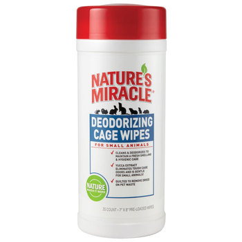 Nature's Miracle Cage Wipes - for Small Animals Салфетки для мелких животных