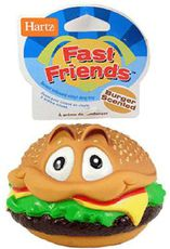 Игрушка для собак Hartz Fast Friends Burger Scented Dog гамбургер, резиновый