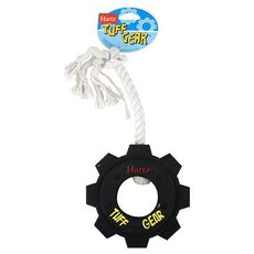 Игрушка для собак Hartz Tuff Gear Dog Toy шестеренка с канатом, резина