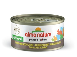 Консервы для кошек Almo Nature Legend HFC Adult Cat Tuna&White Bait тунец с мальками 70 г