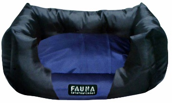 Лежак для собак Fauna International Tuff Love Blue, мягкий, 61x41x25 см