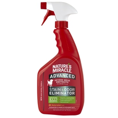 Уничтожитель запахов и пятен с усиленной формулой, для собак Nature's Miracle Dog Advanced Stain and Odor Eliminator Sunny Lemon, с ароматом лимона, спрей 946 мл