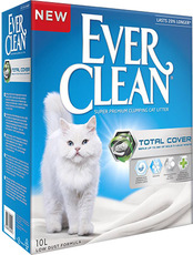 Ever Clean Total Cover - комкующийся наполнитель с микрогранулами двойного действия