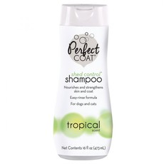 Шампунь для укрепления шерсти у собак 8in1 Perfect Coat Shed Control  Shampoo Tropical Mist, против линьки, 473 мл