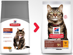 Сухой корм для пожилых кошек Hills Science Plan Feline Mature Adult 7+ Hairball Control Chicken